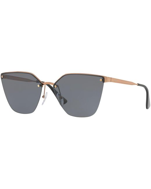Prada - Gray Sunglasses, Pr 68ts - Lyst