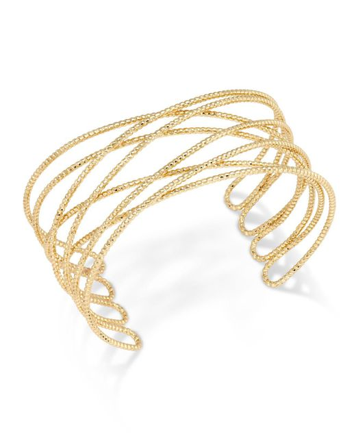 INC International Concepts - Metallic Gold-tone Crisscross Cuff Bracelet - Lyst