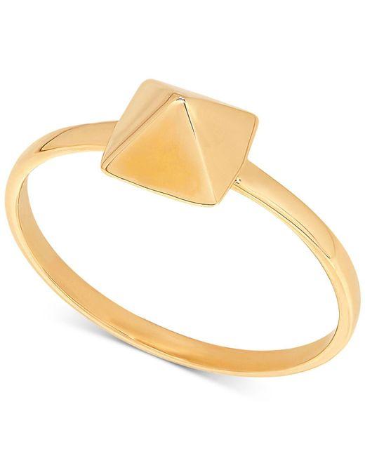 Macy's - Metallic Tiny Pyramid Statement Ring In 14k Gold - Lyst