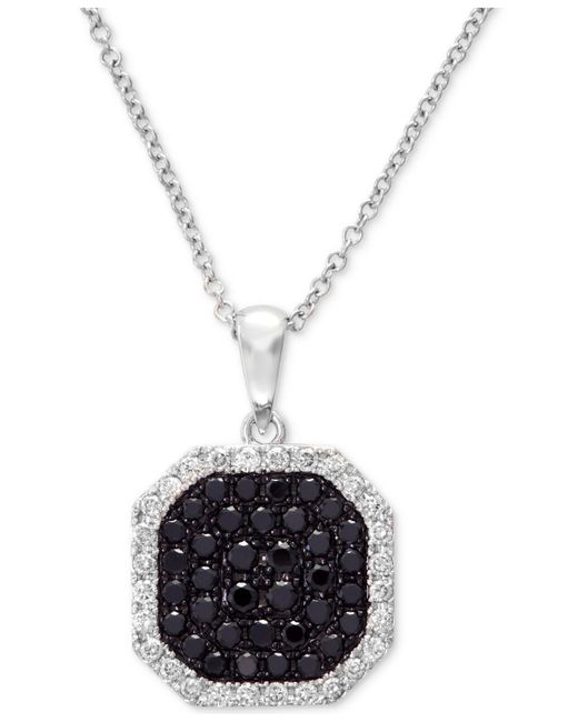 Effy Collection - Diamond Octagon Pendant Necklace (5/8 Ct. T.w.) In 14k White Gold - Lyst