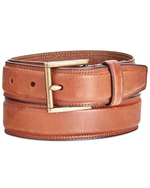 Cole Haan | Brown Men's Stitched Leather Belt for Men | Lyst