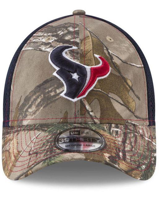 4355182bb ... KTZ - Multicolor Houston Texans Realtree Camo Team Color Neo 39thirty  Cap for Men - Lyst ...
