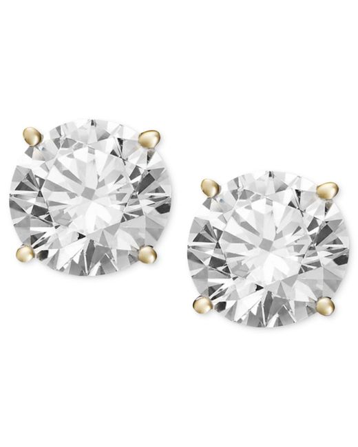 Macy's - Metallic Diamond Stud Earrings (3/4 Ct. T.w.) In 14k White Gold Or Gold - Lyst