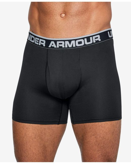 "Under Armour - Black Threadborne Microthread 6"" Underwear for Men - Lyst"