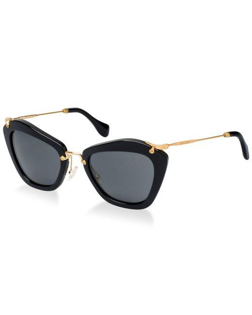 Miu Miu - Brown Sunglasses, Mu 10ns - Lyst