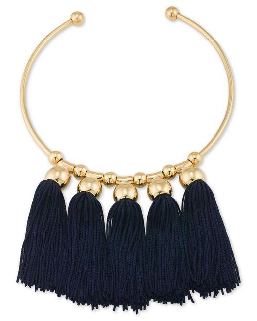 Trina Turk - Blue Tassel Collar - Lyst