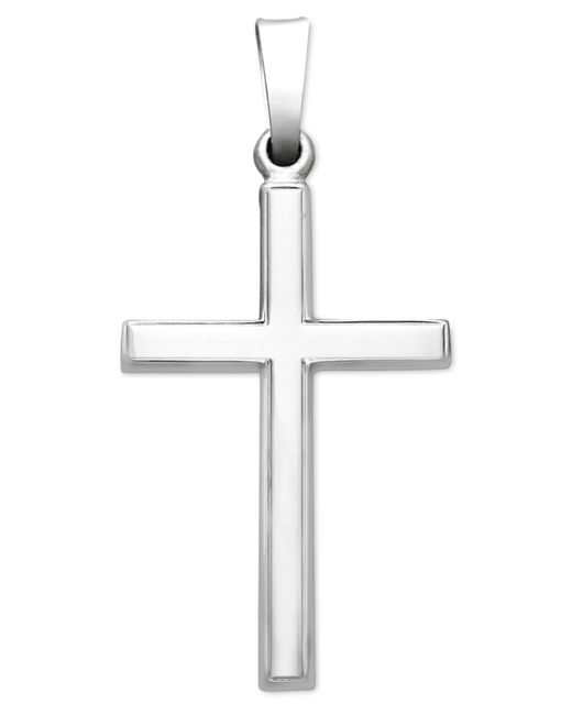 Macy's - 14k White Gold Pendant, Traditional Cross - Lyst