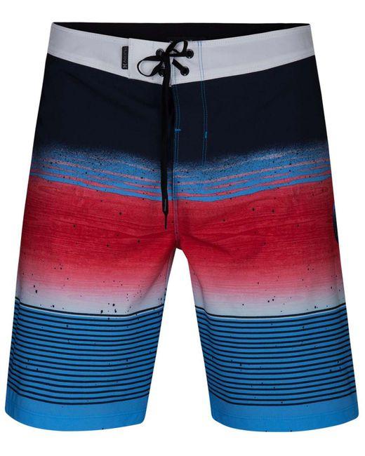 6490a33e04 ... Hurley - Blue Phantom Printed Swim Trunks for Men - Lyst ...