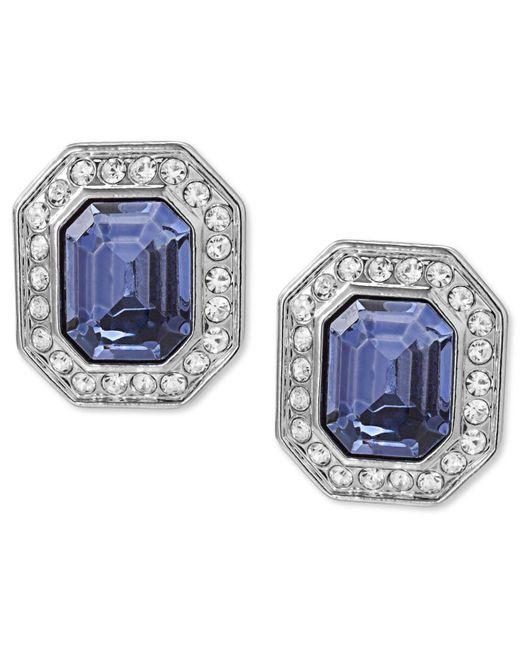 Carolee | Metallic Earrings, Silver-tone Emerald-cut Clip-on Earrings | Lyst