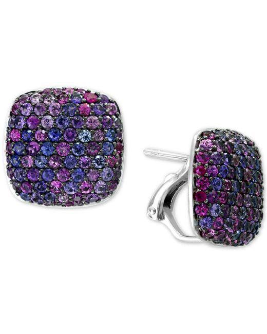 Effy Collection - Splash By Effy® Purple Sapphire Stud Earrings (3-5/8 Ct. T.w.) In Sterling Silver - Lyst