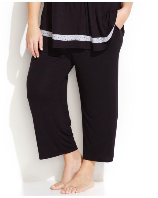 Ellen Tracy - Black Plus Size Yours To Love Capri Pajama Pants - Lyst