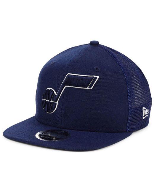 31e2f824 KTZ - Blue Utah Jazz Dub Fresh Trucker 9fifty Snapback Cap for Men - Lyst  ...