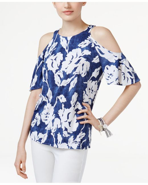 INC International Concepts - Blue Off-the-shoulder Top - Lyst