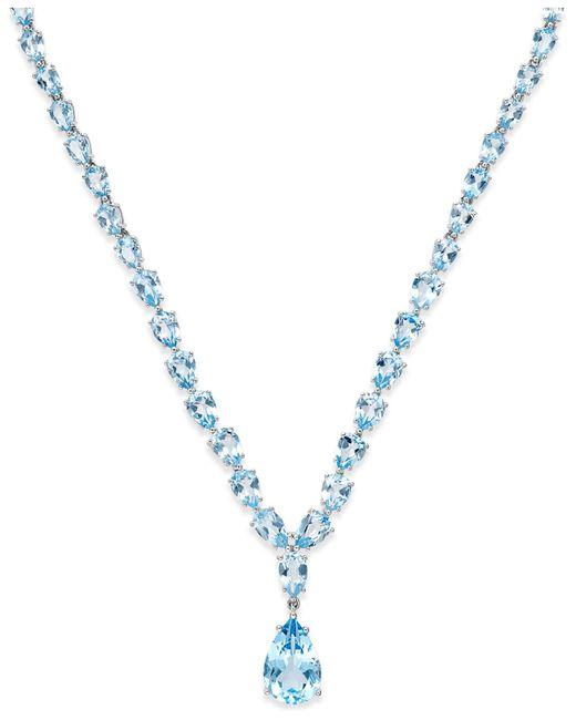 Macy's - Metallic Blue Topaz Statement Necklace (30 Ct. T.w.) In Sterling Silver - Lyst