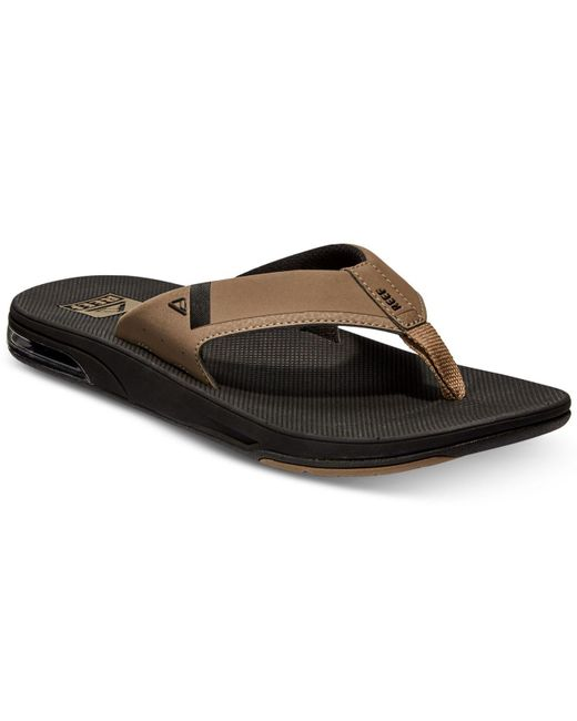 Reef - Black Fanning Low Sandals for Men - Lyst