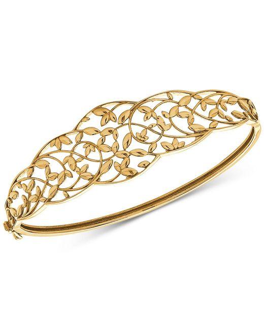 Macy's - Metallic Openwork Vine Bangle Bracelet In 10k Gold - Lyst