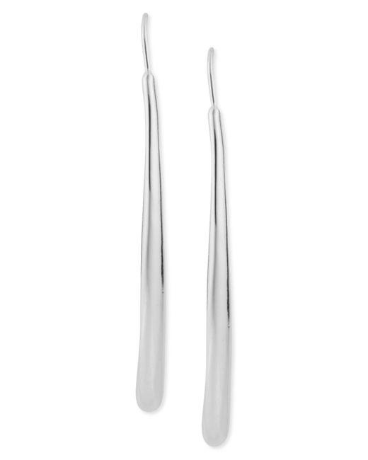 Robert Lee Morris | Metallic Earrings, Silver-tone Long Teardrop Pull-thru Earrings | Lyst