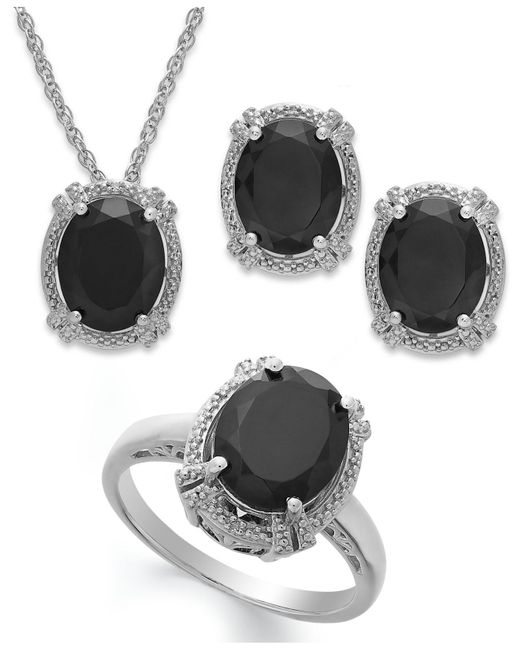 Macy's | Multicolor Onyx (8-3/4 Ct. T.w.)and Diamond Accent Jewelry Set In Sterling Silver | Lyst