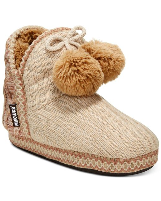 Muk Luks | Brown Women's Amira Boot Slippers | Lyst
