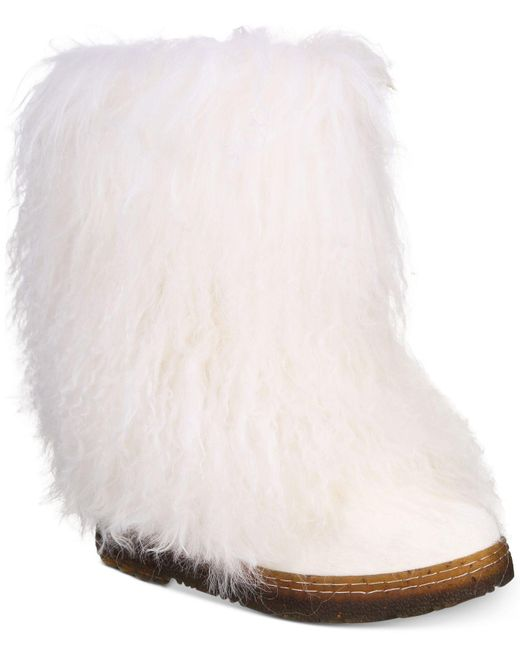 BEARPAW | White Boetis II Cold Weather Wool-Blend Boots | Lyst