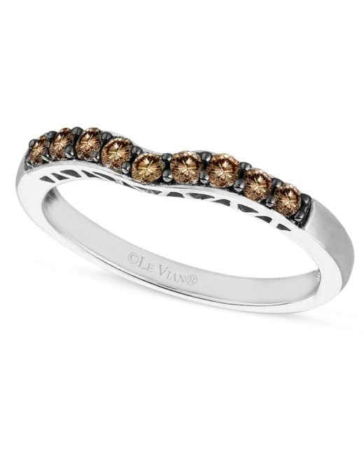 Le Vian | Brown Chocolate Diamond Wedding Band (1/3 Ct. T.w.) In 14k White Gold | Lyst
