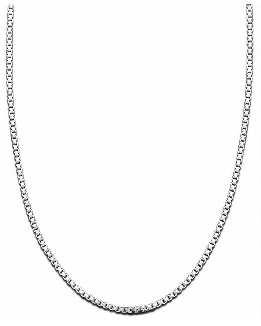 Giani Bernini - Metallic Sterling Silver Necklace, Box Chain - Lyst