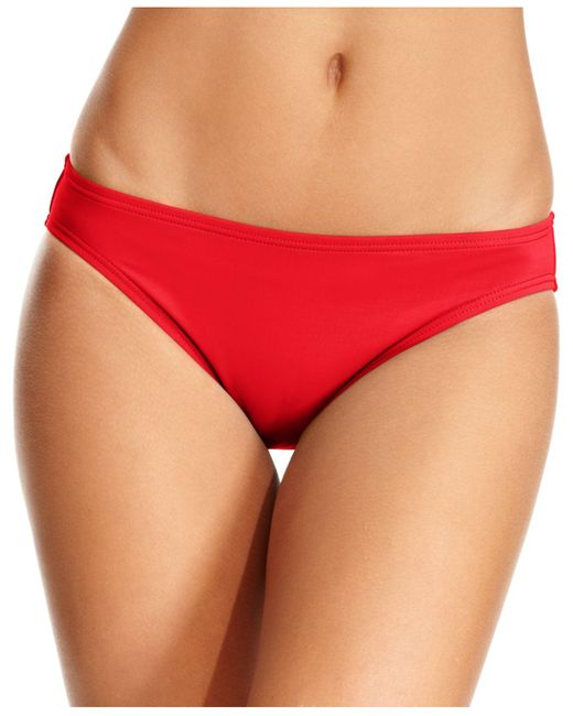 Michael Kors | Red Michael Hipster Bikini Bottoms | Lyst