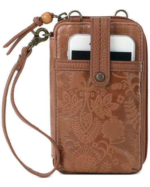 The Sak Brown Iris Smartphone Wristlet Wallet