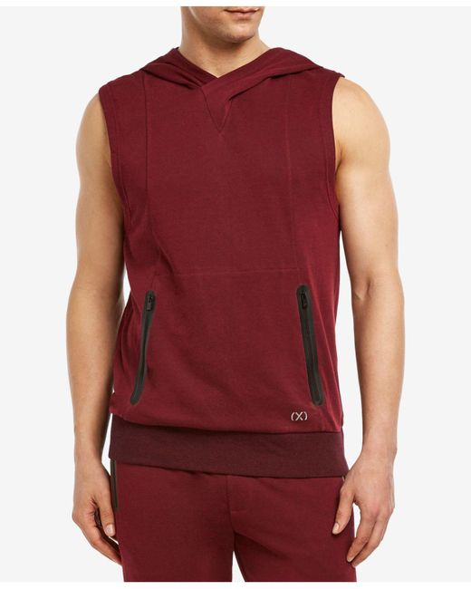 2xist - Red Sleeveless Hoodie for Men - Lyst
