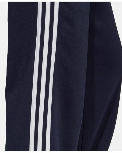 fd600e268 ... Adidas - Blue Essentials 3-stripe Fleece Pants for Men - Lyst ...