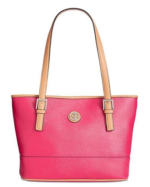 Giani Bernini - Pink Saffiano Tote, Created For Macy's - Lyst