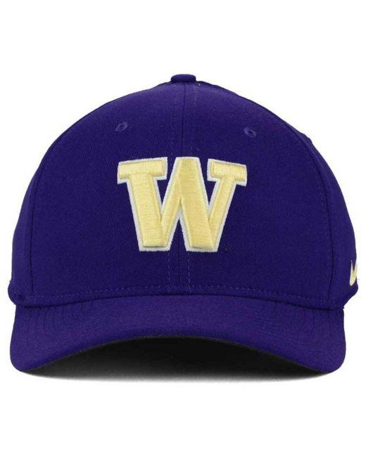 b197bf4e314 ... promo code nike purple washington huskies classic swoosh cap for men  lyst 69727 1f624