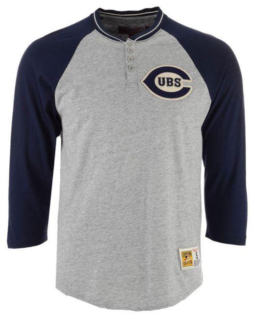 Mitchell & Ness - Gray Chicago Cubs 4-button Henley T-shirt for Men - Lyst