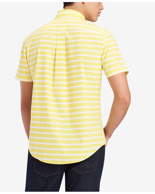 aea5655d ... Lyst Tommy Hilfiger - Yellow Shaw Stripe Shirt, Created For Macy's for  Men ...