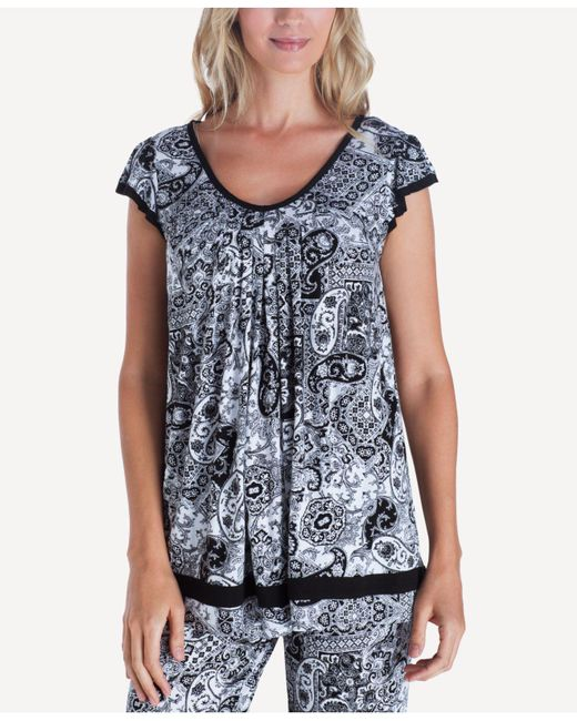 Ellen Tracy - Blue Plus Size Yours To Love Short Sleeve Top - Lyst