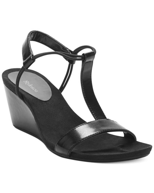Style & Co. | Black Style&co. Mulan Wedge Sandals, Only At Macy's | Lyst