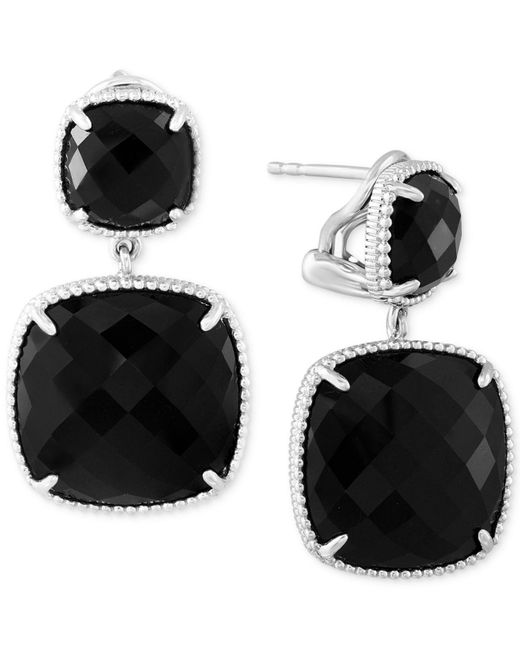 Effy Collection - Black Onyx (17-2/5 Ct. T.w.) Drop Earrings In Sterling Silver - Lyst
