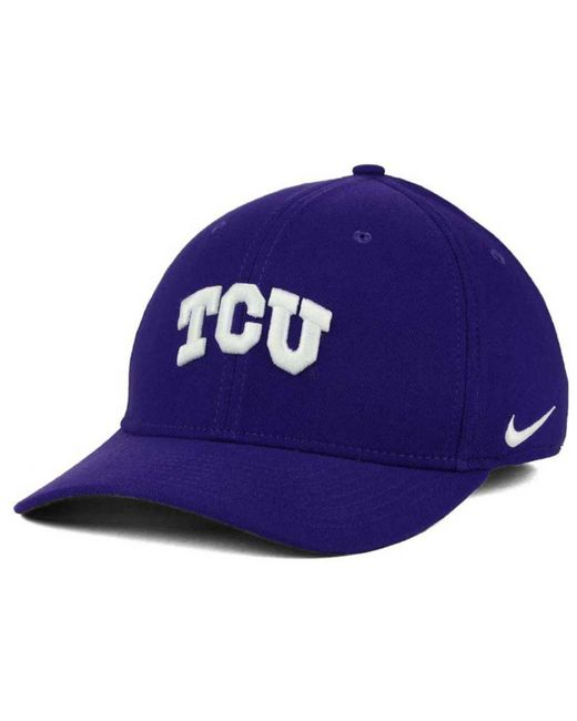 88808e75d6b2f ... ireland nike purple tcu horned frogs classic swoosh cap for men lyst  83aff 4f399