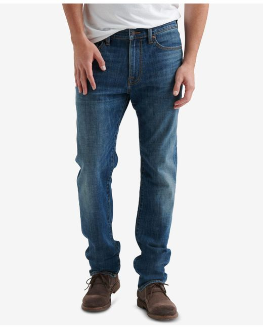 Lucky Brand - Blue 410 Athletic Relaxed Fit Slim Leg Jeans for Men - Lyst