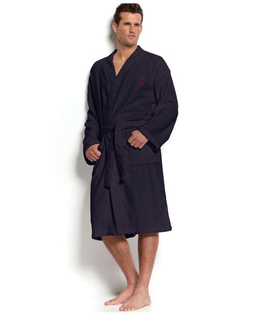 Polo Ralph Lauren - Blue Velour Kimono Robe for Men - Lyst