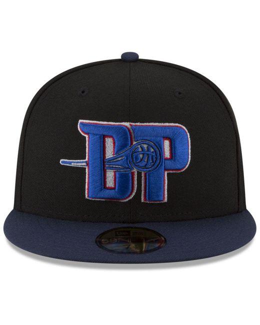 reputable site a417e bd8ec ... KTZ - Blue Detroit Pistons Dark City Combo 59fifty Fitted Cap for Men -  Lyst ...