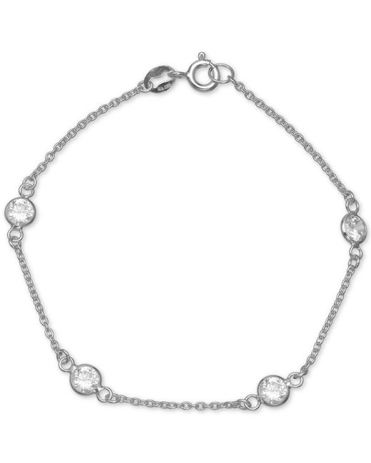 Giani Bernini - Metallic Cubic Zirconia Station Bracelet In Sterling Silver, Created For Macy's - Lyst