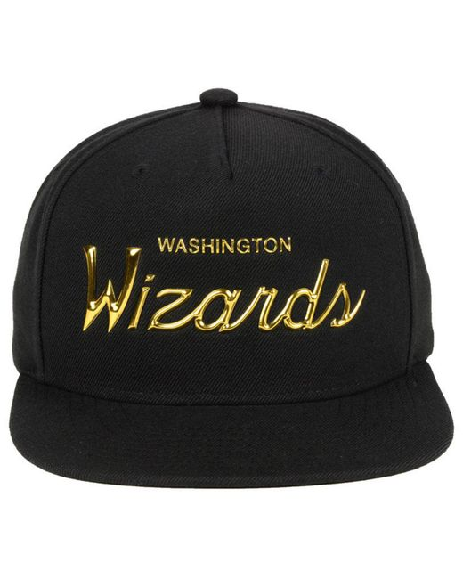 on sale 92aaf 603e6 ... clearance mitchell ness washington wizards metallic tempered snapback  cap for men 4c779 98c78