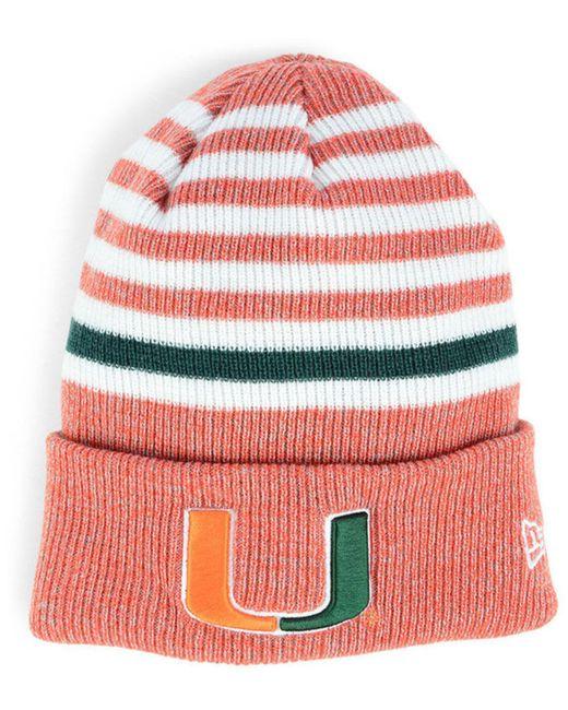 3c7f0c744c7 fantastic savings ce600 1a3ec KTZ - Red Miami Hurricanes Striped Chill Knit  Hat - Lyst . meet d36cd 446df Stussy ...