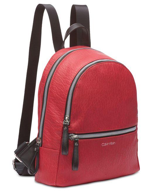 ac4daeaf27e5 ... Calvin Klein - Red Elaine Backpack - Lyst ...