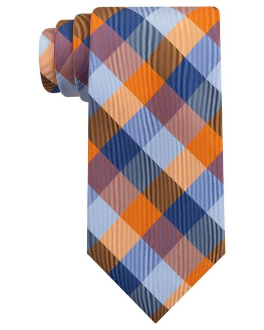 Tommy Hilfiger | Orange Buffalo Tartan Tie for Men | Lyst