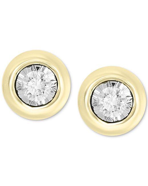 Effy Collection - Metallic Bubbles By Effy® Diamond Bezel Frame Stud Earrings (1/5 Ct. T.w.) - Lyst
