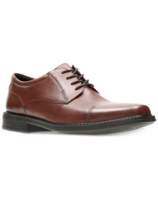 Bostonian | Brown Men's Wenham Black Leather Dress Cap-toe Oxfords for Men | Lyst