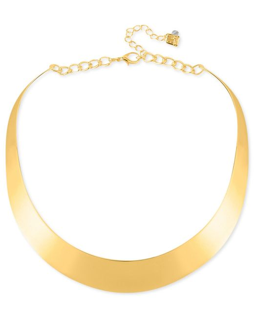 "Robert Lee Morris | Metallic 14"" Necklace, Half-moon Collar Necklace 