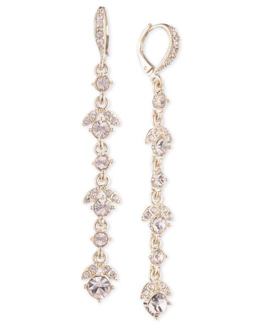 Givenchy - Metallic Crystal Linear Drop Earrings - Lyst